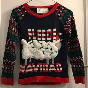 Kids Ugly Christmas Sweater - Fleece Navidad :)